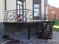 Изготовление металлической лестницы на второй этаж