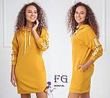 """Спортивное платье с капюшоном и карманами """"Lazio""""  Батал, фото 9"""