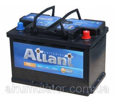 Акумулятор автомобільний ATLANT 75-0 (R+) (680A) Білорусь