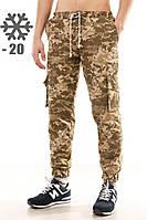 """Зимние мужские штаны карго """"Ястребь"""" пиксель, фото 1"""