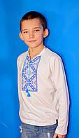 Вышитая футболка с длинным рукавом для мальчика
