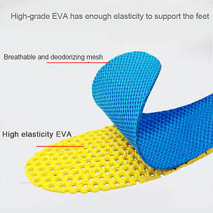 Ортопедические стельки с эффектом памяти для обуви сетчатые, фото 2