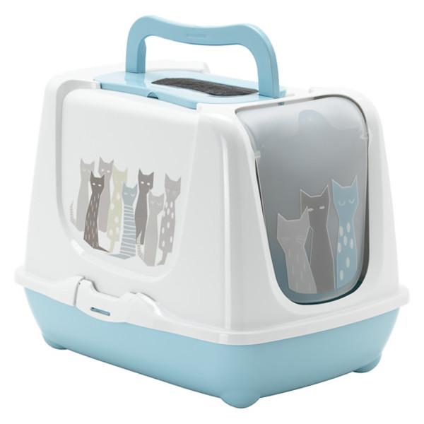 Moderna Trendy Cat Maasai МОДЕРНА тренд КЕТ закритий туалет для котів c вугільним фільтром і совком,