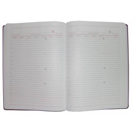Ежедневник недатированный BRISK OFFICE SARIF Стандарт А4(21х29) бордовый, фото 2