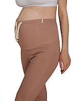 620209 Лосины в рубчик для беременных Бежевые
