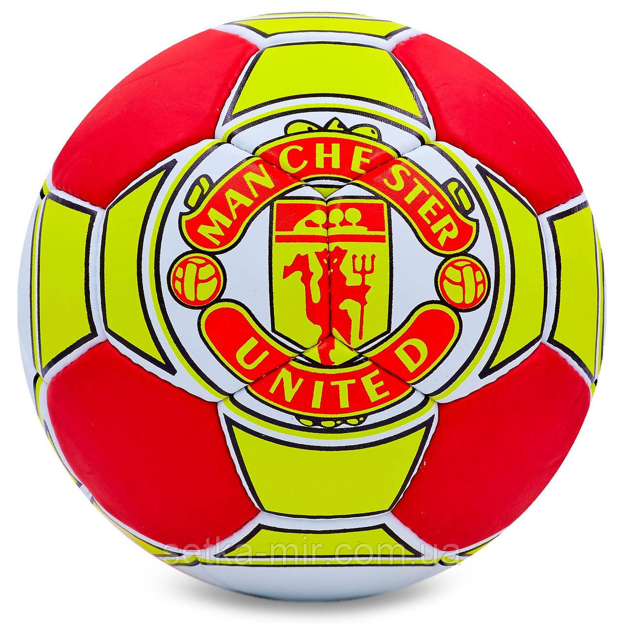 Мяч футбольный №5 Гриппи 5сл. MANCHESTER FB-0047-125 (№5, 5 сл., сшит вручную)