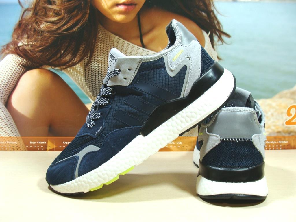 Мужские кроссовки Adidas Nite Jogger Boost 3M синие 43 р.