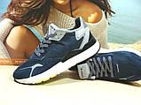 Мужские кроссовки Adidas Nite Jogger Boost 3M синие 43 р., фото 2