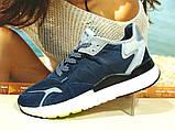 Чоловічі кросівки Adidas Nite Jogger Boost 3M сині 43 р., фото 3
