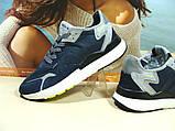 Чоловічі кросівки Adidas Nite Jogger Boost 3M сині 43 р., фото 5