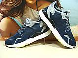 Чоловічі кросівки Adidas Nite Jogger Boost 3M сині 43 р., фото 7