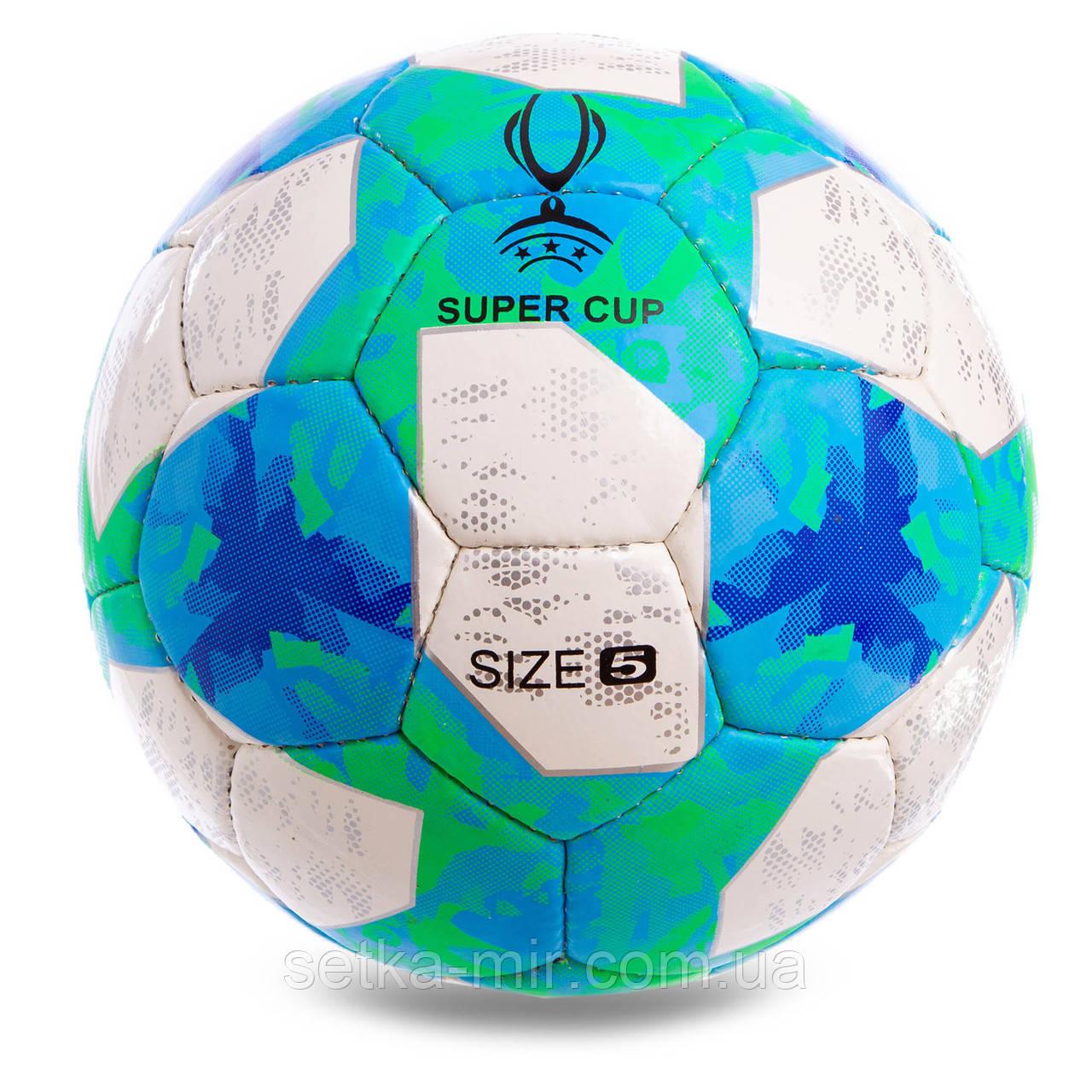 Мяч футбольный №5 Гриппи 5сл. UEFA SUPER CUP 2019 FB-2133 (№5, 5 сл., сшит вручную)