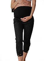 666821 Джинсы для беременных мом с пуговицами внизу черные, фото 1