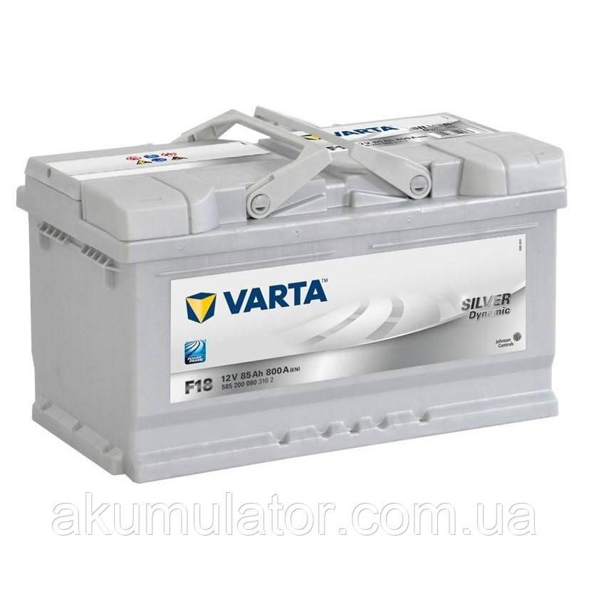 Акумулятор автомобільний VARTA 85 Silver Dynamic (R+) (800А)