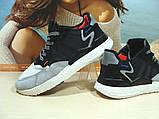 Кросівки чоловічі Adidas Nite Jogger Boost 3M сіро-чорні 41 р., фото 5