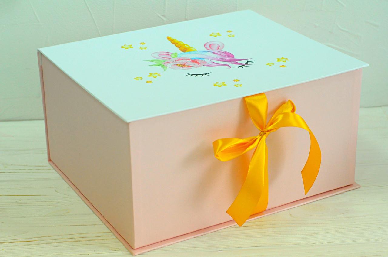"Коробка ""книжка-единорог №4"" 35*22*10 см"