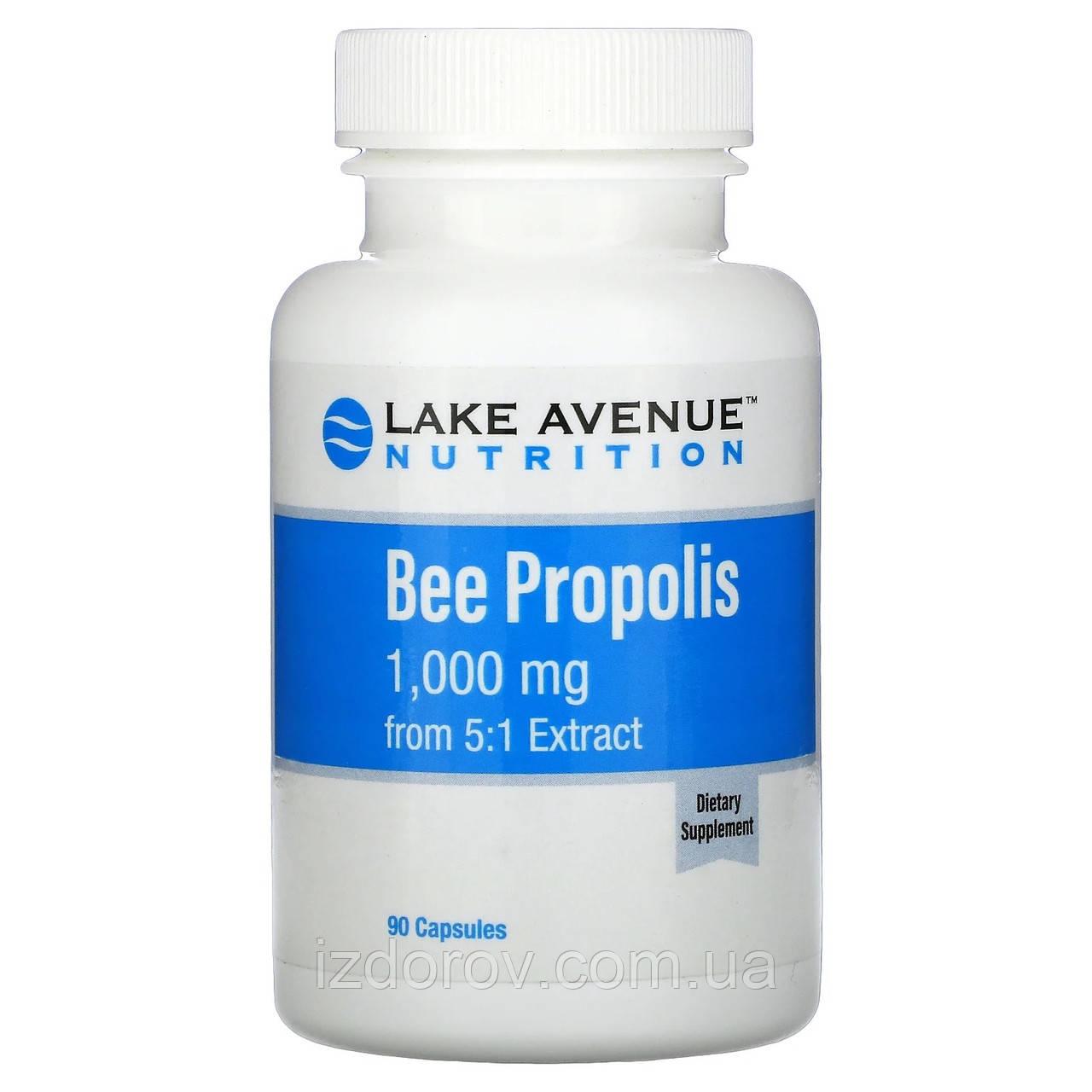 Lake Avenue Nutrition, бджолиний прополіс, екстракт 5:1, еквівалент 1000 мг, 90 рослинних капсул