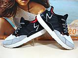 Кроссовки мужские Adidas Nite Jogger Boost 3M серо-черные 46 р., фото 6