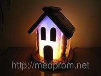 Соляная лампа Домик 4-6 кг цветная