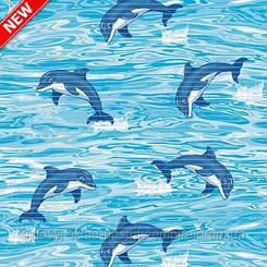 Коврик для ванной и туалета Аквамат Dekomarin Турция 80см Дельфины
