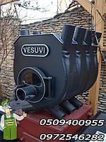 Печь калориферная булерьян «VESUVI 01» с варочной поверхностью и панрамным смотровым стеклом