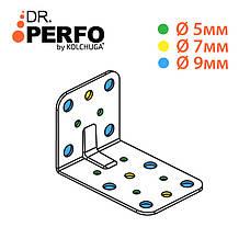 Куточок перфорований асиметричний ,уголок з різними сторонами 90х60х60х2,5 мм. ТМ Кольчуга (Kolchuga), фото 3