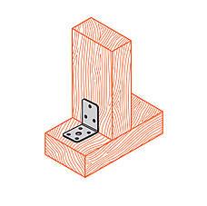 Куточок перфорований асиметричний, уголок монтажний з різними сторонами 90х48х48х3 мм. ТМ Кольчуга (Kolchuga), фото 2
