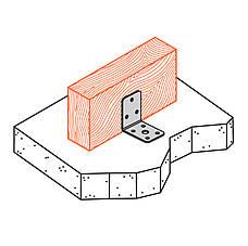 Куточок перфорований асиметричний, уголок монтажний з різними сторонами 90х48х48х3 мм. ТМ Кольчуга (Kolchuga), фото 3