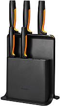 Набор кухонных ножей Fiskars Functional Form из 6 предметов (1057554) с пластиковой подставкой