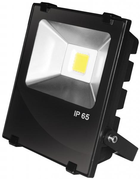 EUROELECTRIC LED COB Прожектор чорний з радіатором 50W 6500K modern