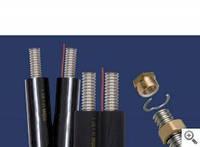 Двухпроводная система гофрированных нерж. труб Inoflex в каучук. изоляции DN 16 с кабелем(бухта 10м)