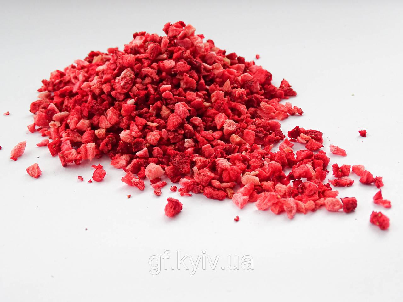 Клубника кусочки 2-5 мм - 100г  сублимированная натуральная ягода от украинского производителя