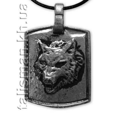 Кулон KUL-094 - Жетон с волком, фото 2