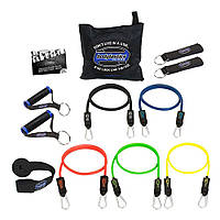 Набор трубчатых эспандеров для тренировок Bodylastics (5 шт., макс. сопротивление 43.5 кг)