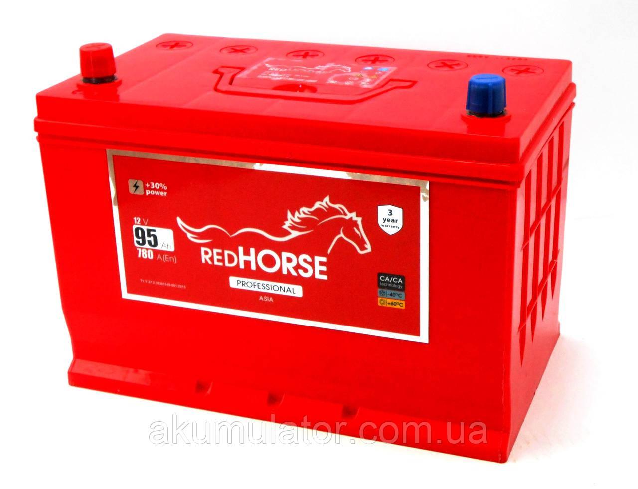 Акумулятор автомобільний RED HORSE Asia 95 (L+)