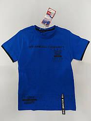 Стильная детская футболка на мальчика подростка на рост 134 см, 140 см