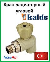 Кран радиаторный угловой 25х3/4 н. Kalde