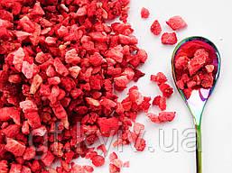 Клубника кусочки 2-5 мм - 50г  сублимированная натуральная ягода от украинского производителя