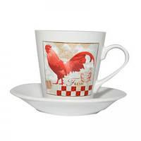 Чашка кофейная с блюдцем Village 150 мл Krauff