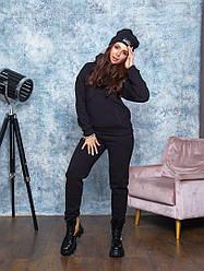 Теплий спортивний костюм з шапкою чорного кольору від YuLiYa Сһимасһепко