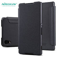 Кожаный чехол книжка Nillkin Sparkle для Sony Xperia Z4 E6533 Black