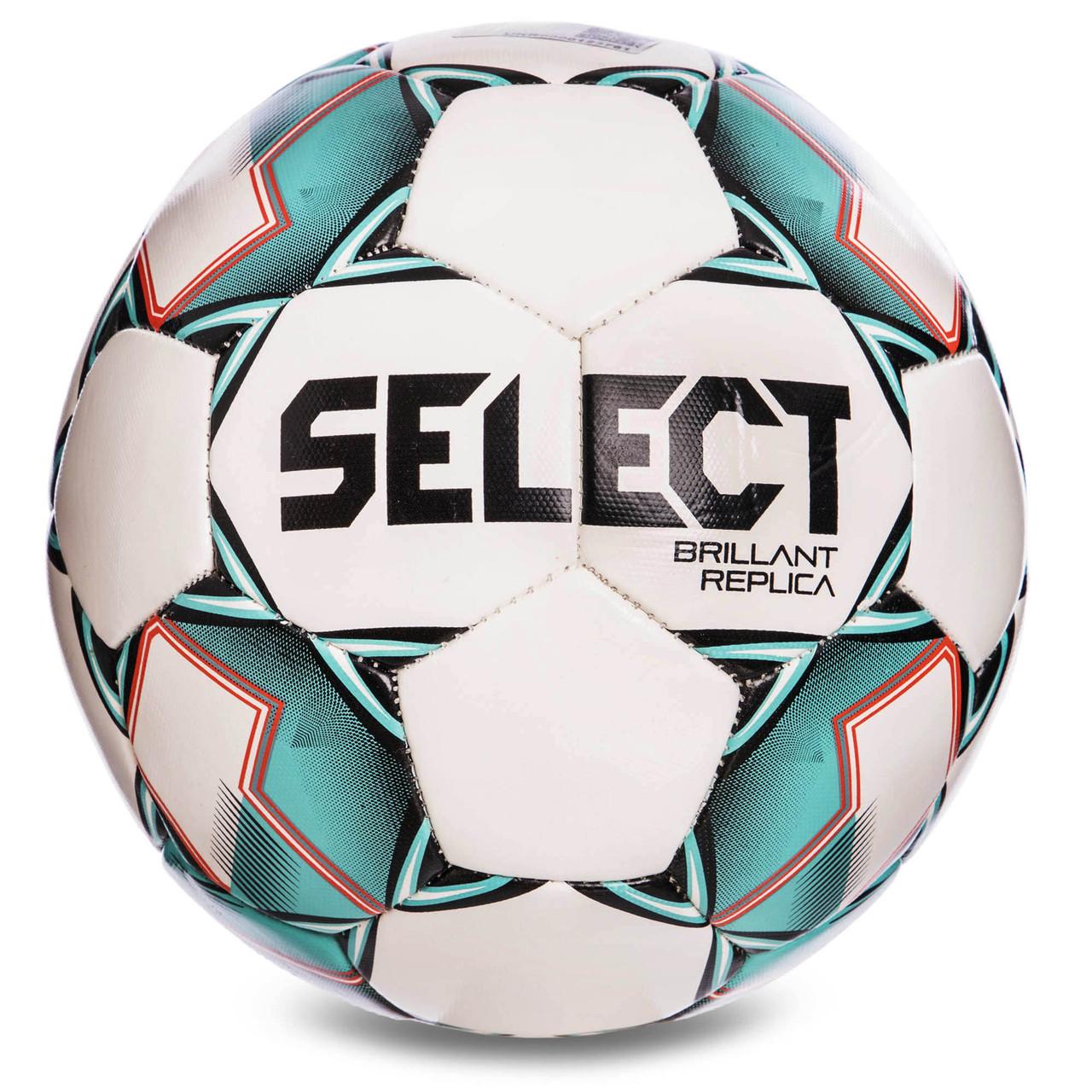 М'яч футбольний №5 SELECT BRILLANT REPLICA (білий-зелений)