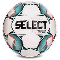 М'яч футбольний №5 SELECT BRILLANT REPLICA (білий-зелений), фото 1