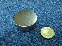 Супермагнит неодимовый  сила 55 кг 45х15 мм, фото 1