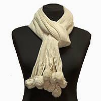 Вязаный женский шарф Бежевый