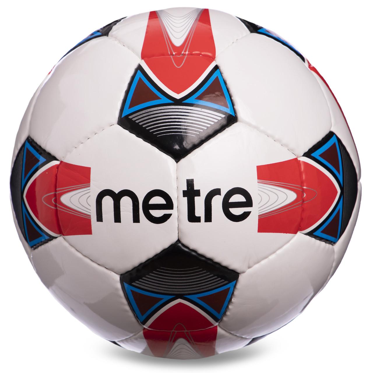 М'яч футбольний №4 PU ламін. METRE 1733,1734,1735, №5, 5 сл., Зшитий вручну