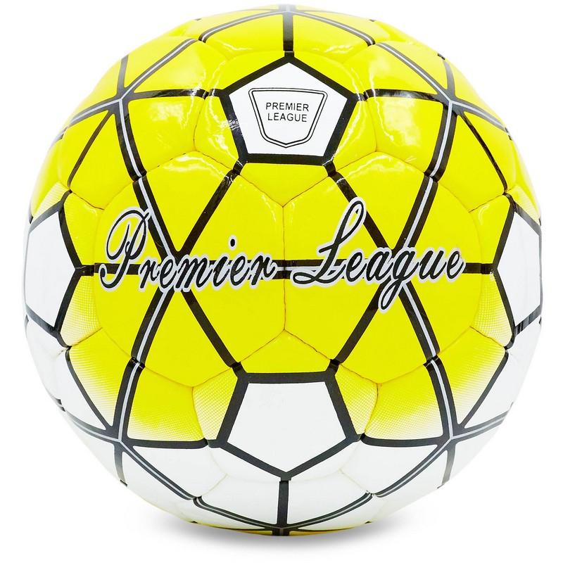М'яч футбольний №5 DX PREMIER LEAGUE FB-4797 (№5, 5 сл., Зшитий вручну) кольори в асорт., Жовтий