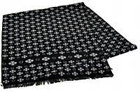 Мужской шерстяной шарф 170 на 30 см 50146-8 черный
