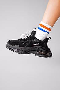 Мужские кроссовки Balenciaga Triple S Clear Sole Black