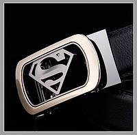 Чоловічий ремінь з натуральної шкіри Superman, фото 6